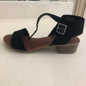 Rock & Candy black suede block heel sandal